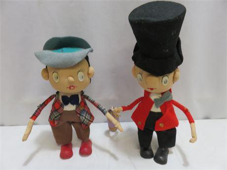 Vintage Noel Japan Stockinette Dolls