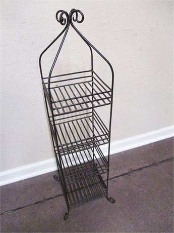 EXCELLENT WROUGHT IRON ETAGERE