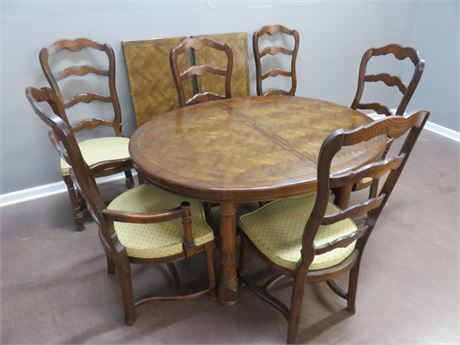 CENTURY FURNITURE Oak Dining Table Set