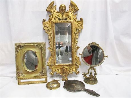 LOT OF VINTAGE MIRRORS