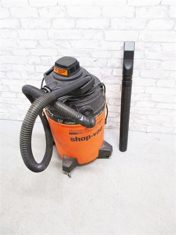 BLACK & DECKER SHOP VAC 1.5 HP 12 GAL. WET/DRY VAC W/DETACHABLE BLOWER