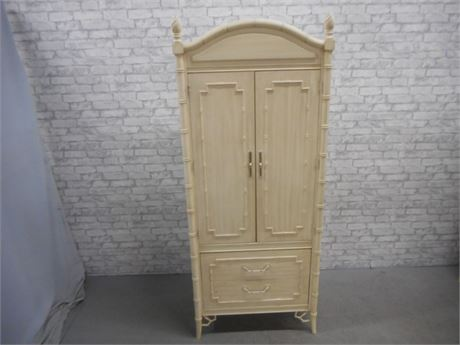 VINTAGE THOMASVILLE ALLEGRO COLLECTION FAUX BAMBOO WARDROBE