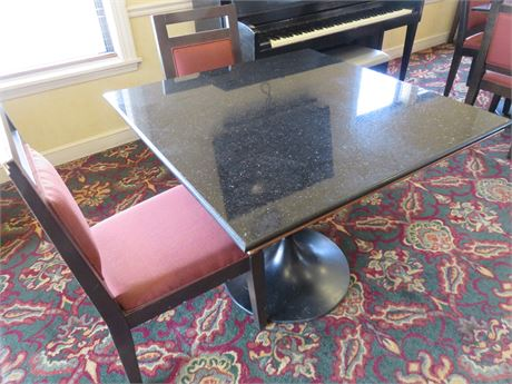 Faux Granite Top Table & Chairs