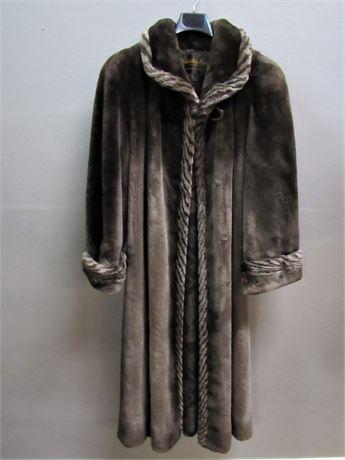 Floor Length Brown  Mink Coat