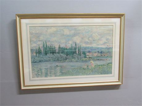 Framed and Matted Claude Monet Print