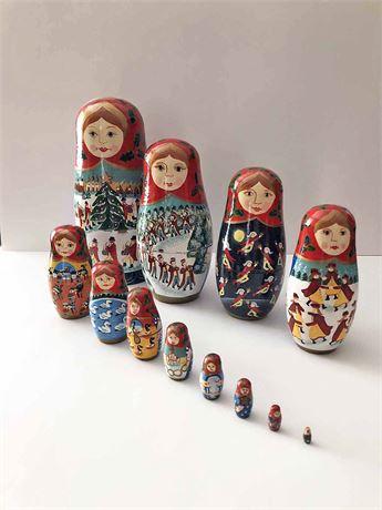 12 Days of Christmas Nesting Dolls