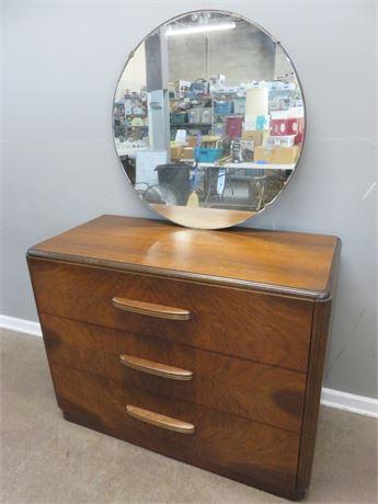 Vintage Art Deco Dresser & Mirror