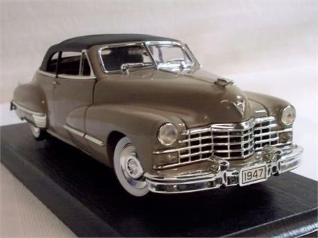 ANSON CLASSIC 1:18 SCALE DIECAST - 1947 CADILLAC CONVERTIBLE COUPE WITH BOX