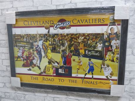 "2015 CLEVELAND CAVALIERS ""The Road To The Finals"" Framed Collage Print"