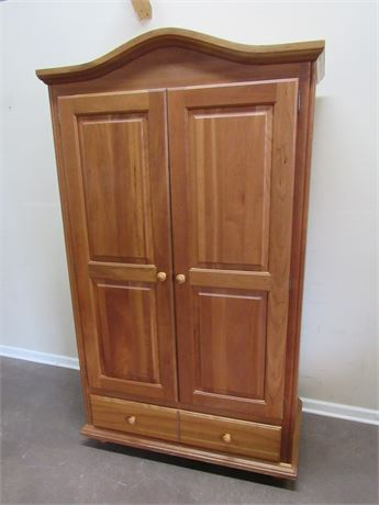 NICE CHERRY BEDROOM/STORAGE ARMOIRE