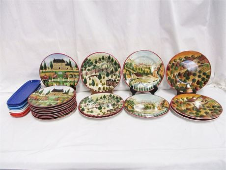 """LOT OF CERAMICS FEATURING """"COUNTRY VILLAGE"""" BY BLOCK BY GEAR"""