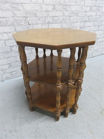 3-Tier Octagonal Lamp Table
