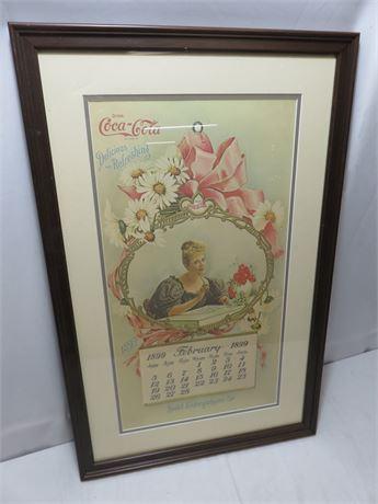 Vintage Coca-Cola 1899 Advertising Calendar Art