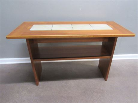 SMALL SOFA/CONSOLE TABLE WITH TILE INLAY TOP