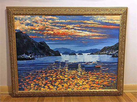 Signed Howard Behrens Painting