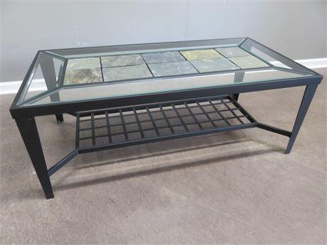 Slate/Glass Top Coffee Table
