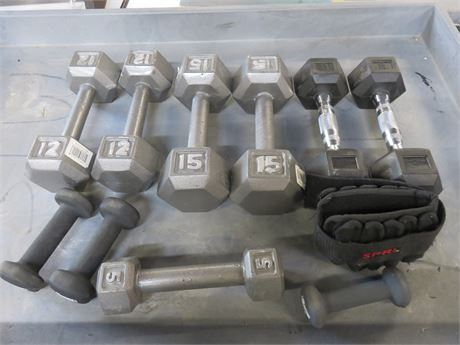 Dumbell/Hand Weight Lot