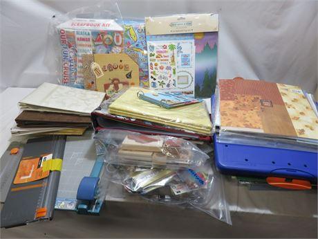 Scrapbooking Supplies Lot