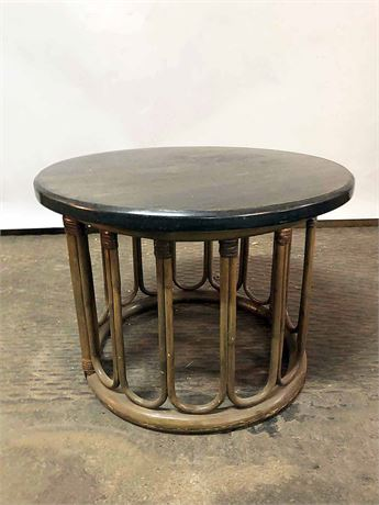 Rattan Sunroom Side Tables