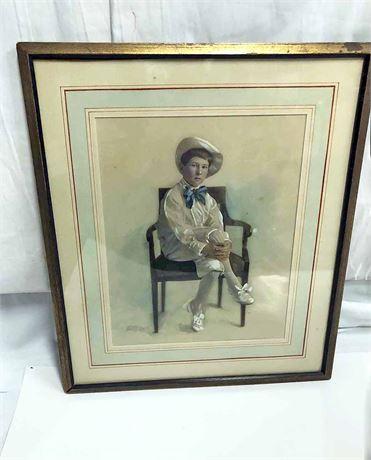 Vintage Korner and Wood Portrait