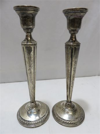 COLUMBIA Weighted Sterling Silver Candlesticks
