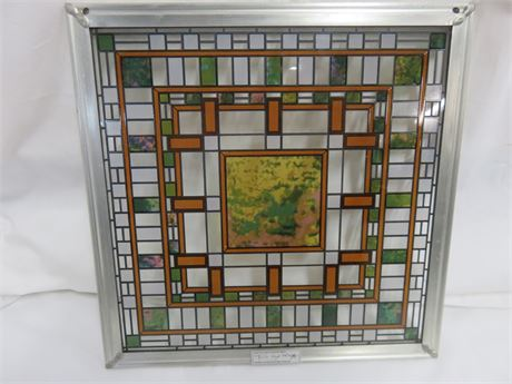 FRANK LLOYD WRIGHT Stained Art Glass Panel
