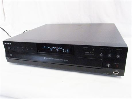 SONY 5-DISC CD CHANGER/PLAYER CDP-CE500 - NO REMOTE!!