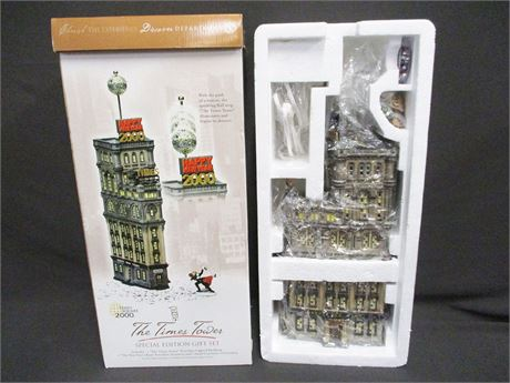 "DEPT. 56 - ""THE TIMES TOWER"" SPECIAL EDITION GIFT SET #55510"