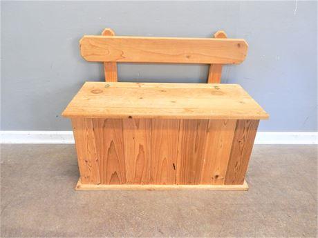 Wood Storage Bench/Toy Box