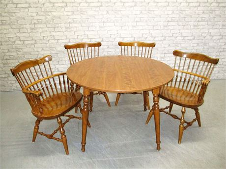 VINTAGE ETHAN ALLEN TABLE AND 4 CHAIRS