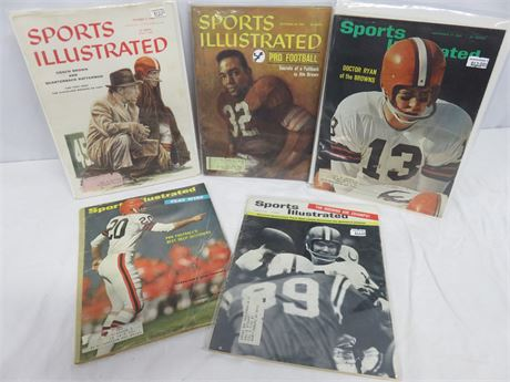 Vintage Cleveland Browns Sports Illustrated Magazines 1956-66