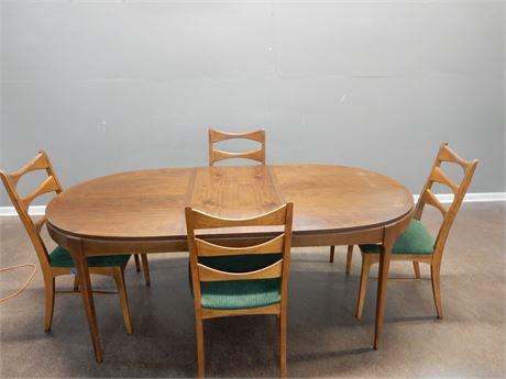 Mid Century Lane Tuxedo Dining Set 1960's