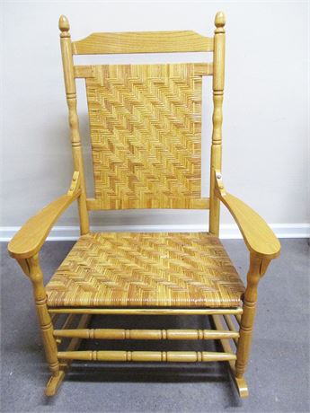 WOVEN GRANDFATHER ROCKING CHAIR