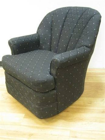 BASISTA CUSTOM TAILORED BLACK UPHOLSTERED SWIVEL ROCKER