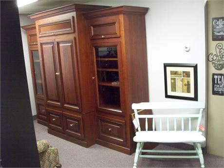 LARGE HOME ENTERTAINMENT CENTER/WALL UNIT