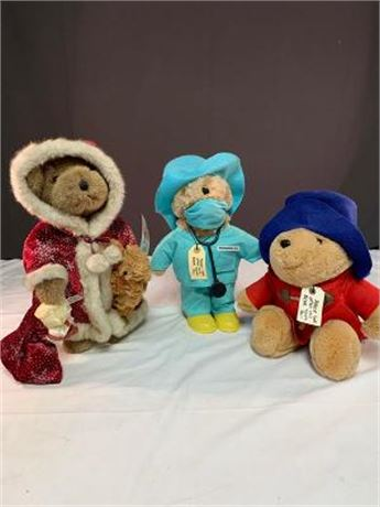 Lot of 3 Paddington Bears