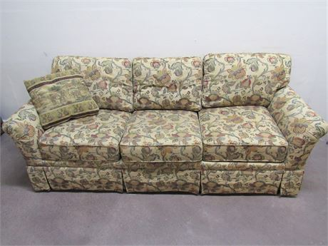 HOWARD MILLER WOODMARK SOFA WITH THROW PILLOWS