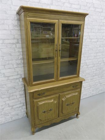 Country French China Hutch