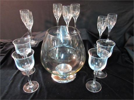 12 Piece Misc. Glass/Crystal Lot