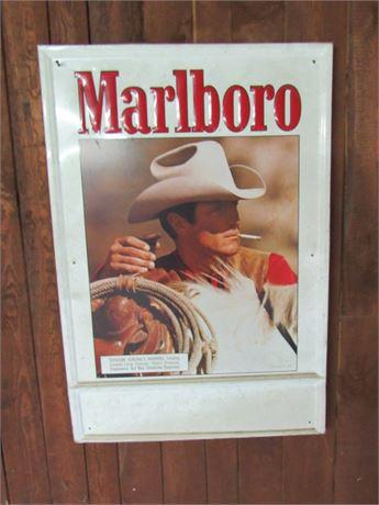 Vintage 1986 Marlboro Tin Advertising Sign