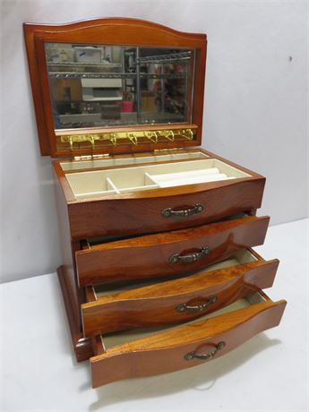 Transitional Design Online Auctions Dresser Top Jewelry Box