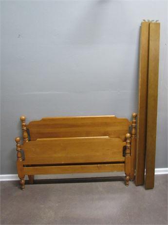 Vintage Kling Solid Hard Maple Full Size Bed
