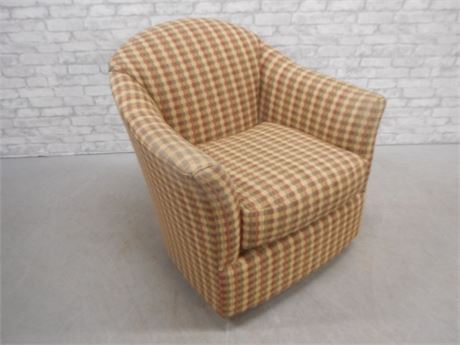 FAIRFIELD UPHOLSTERED SWIVEL ROCKING CHAIR