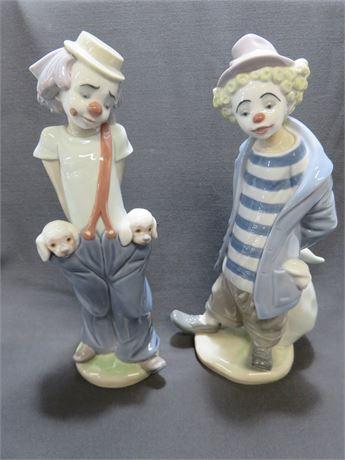 LLADRO Clown Figurines