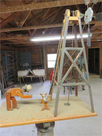 Vintage Whirlygig Wood Chopper Windmill