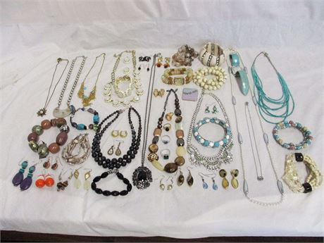 LOT OF COSTUME JEWELRY FEATURING CHICO'S