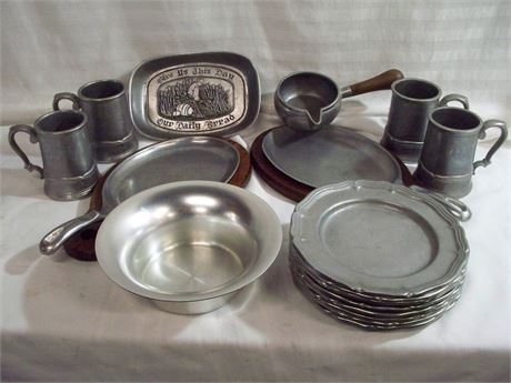 16 PIECE PEWTER LOT