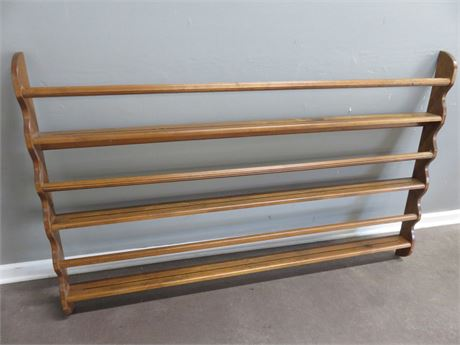 Large 3-Shelf Wooden Plate Rack