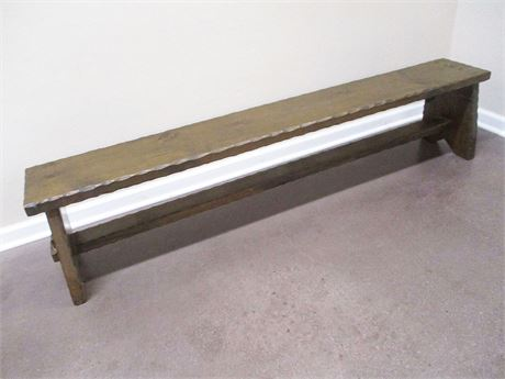 VINTAGE LONG LOW BENCH