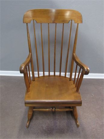 Nichols and Stone Spindle-Back Rocking Chair